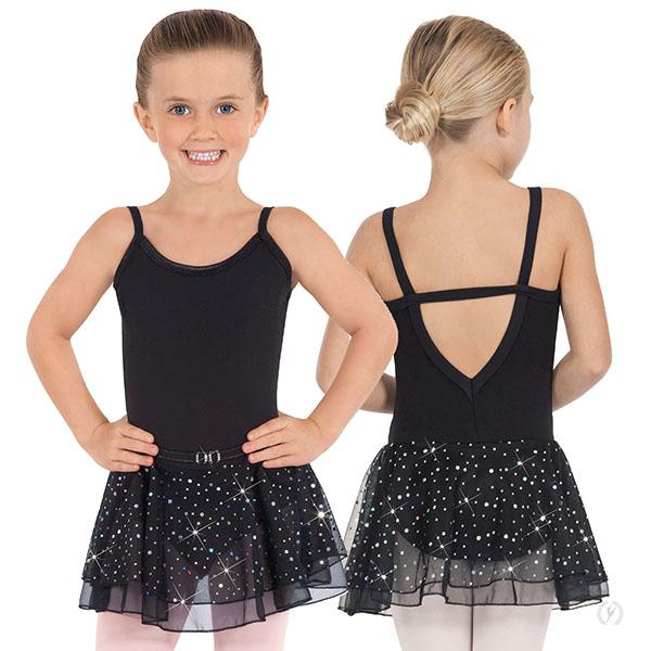 53858361871d 0205 - Girls Sequined Skirt Camisole Dance Dress