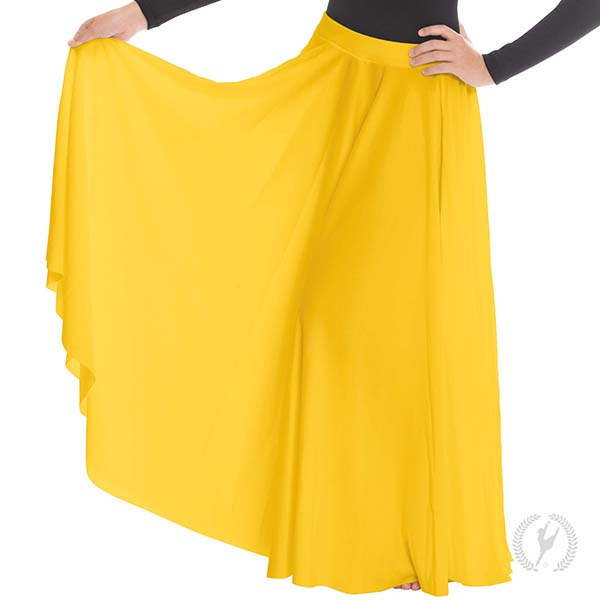 0f0f9253f6 13674k - Young Girls Polyester Voluminous Full Length Triple Panel Praise  Skirt
