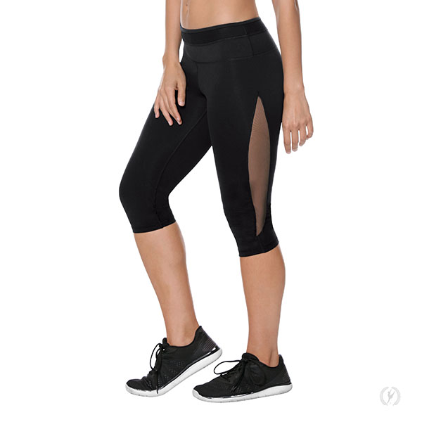 ba5ed1c0c56c48 33338 - Womens Performance Tactel® Capri Mesh Panel Leggings