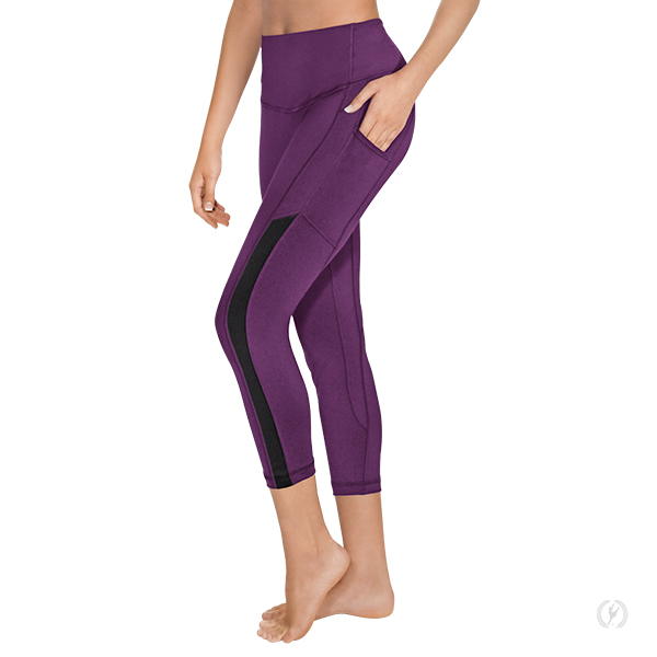 ad365a3102c4c0 33441 - Womens Performance Tactel® 7/8 Length Leggings with Side Pocket and  Mesh Panel