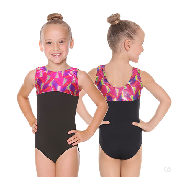 7d5e9883a922 77550 - Girls Celebration Color Block Gymnastics Leotard
