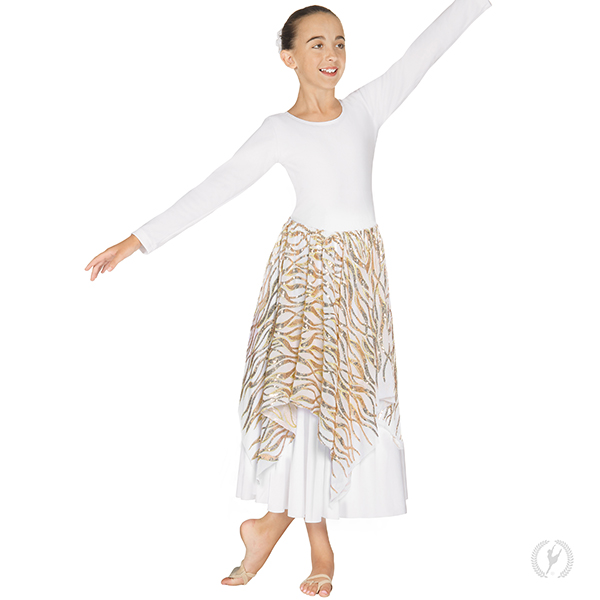 ffc2547c23 82768c - Girls Passion of Faith Praise Skirt and Drape Overlay